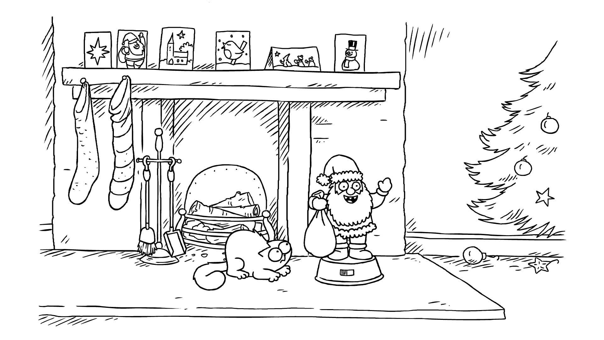 Кот Саймона / Рождественские шалости. Часть 1