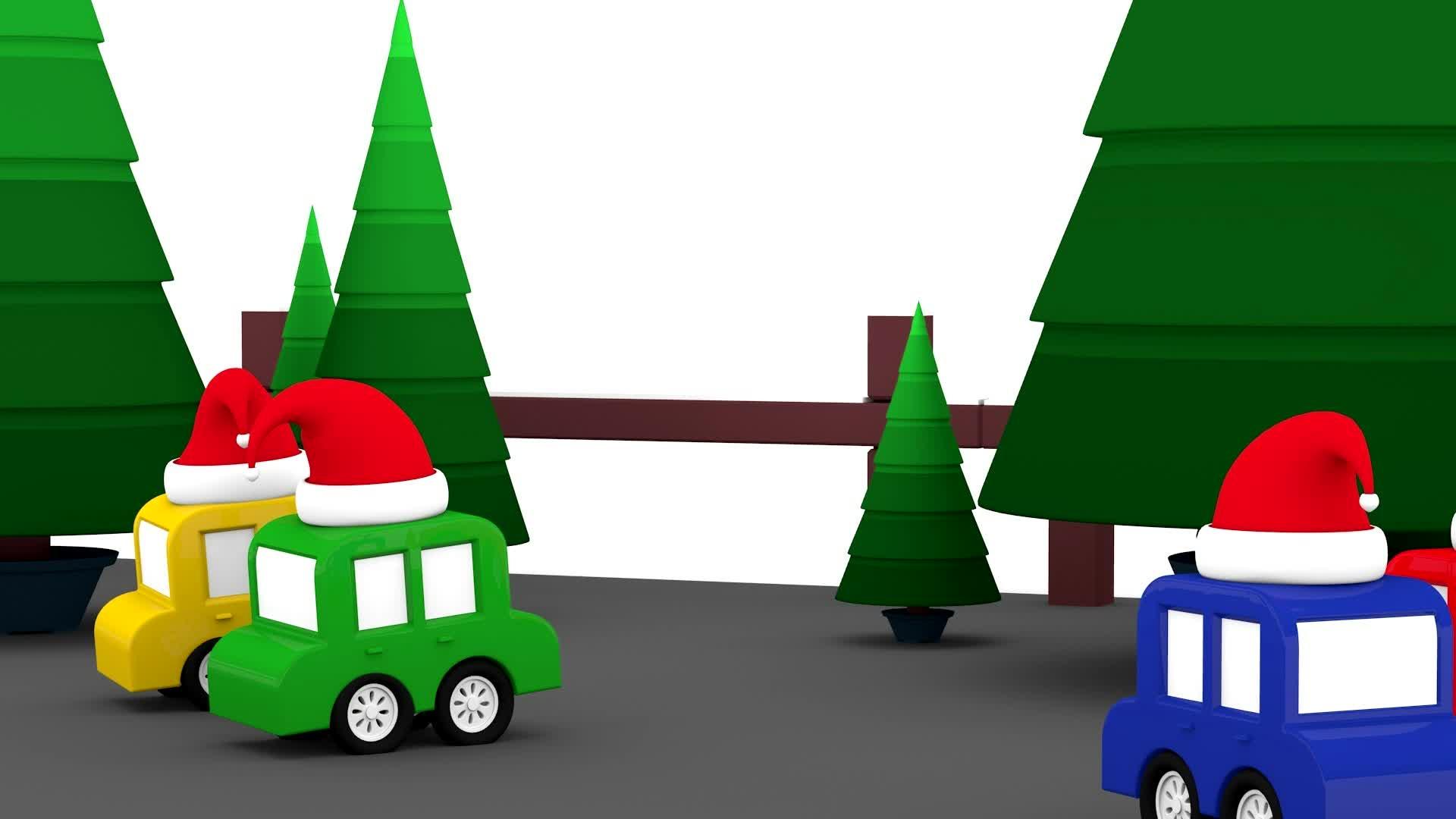 4 машинки / Машинки отмечают Новый год