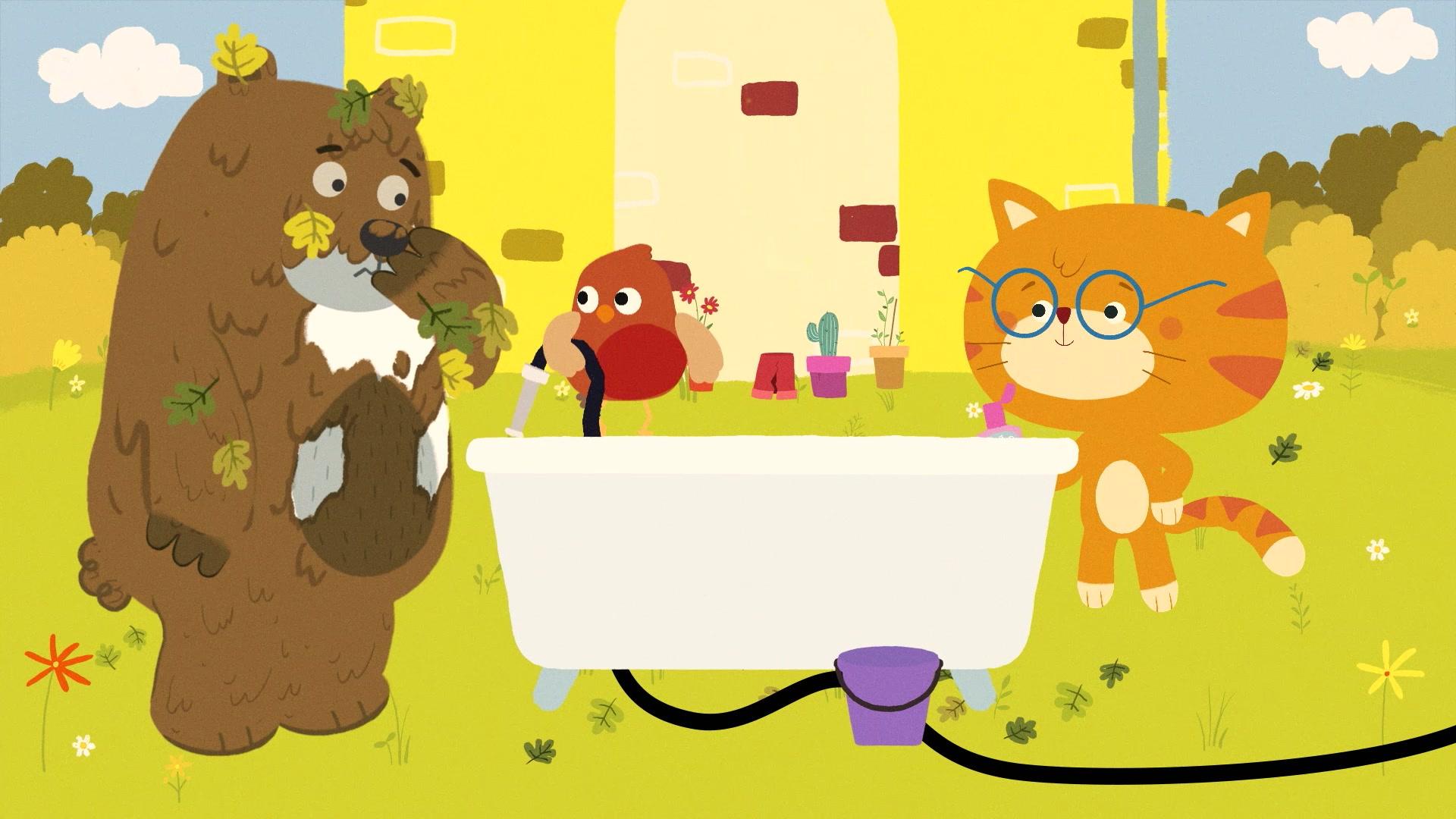 Мишо и Робин / Как отмыть медведя?