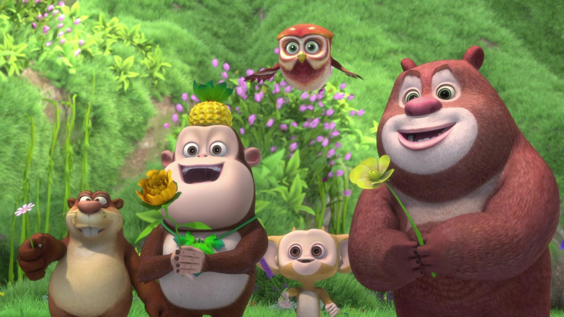 Забавные медвежата / Душистые весенние цветы