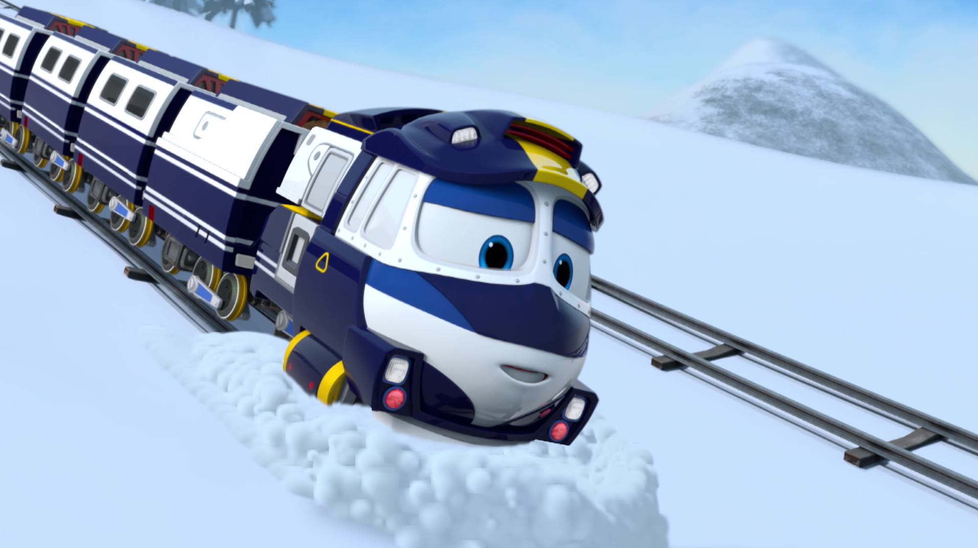 Роботы-поезда / Виктор в опасности