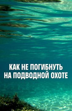 Как не погибнуть на подводной охоте