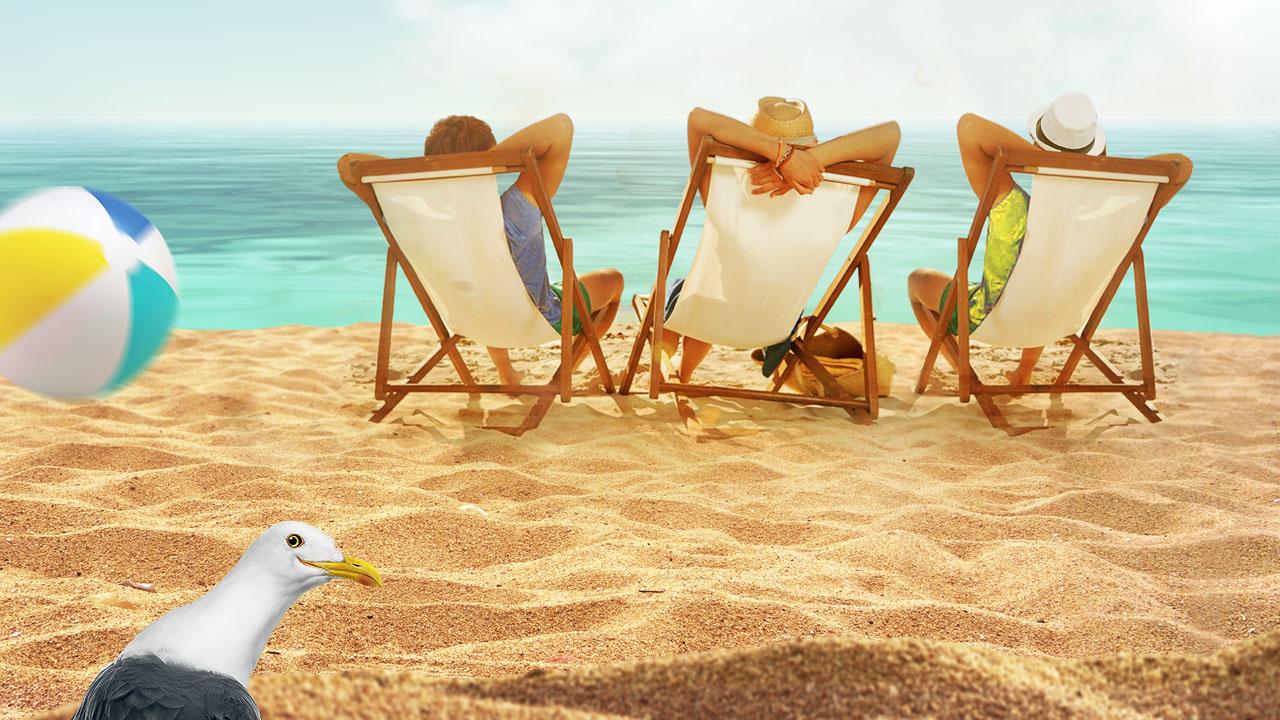 Теперь Не Только В Номере Но Ещё И На Пляже Трахаются